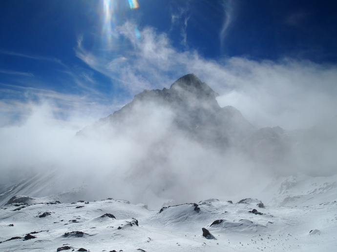blowing clouds at Jade Dragon Snow Mountain