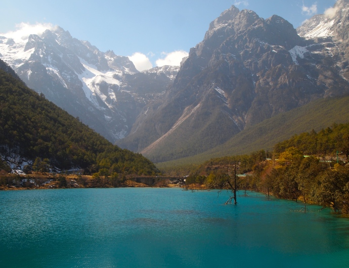 Mirror Lake at the foot of Jade Dragon Snow Mountain