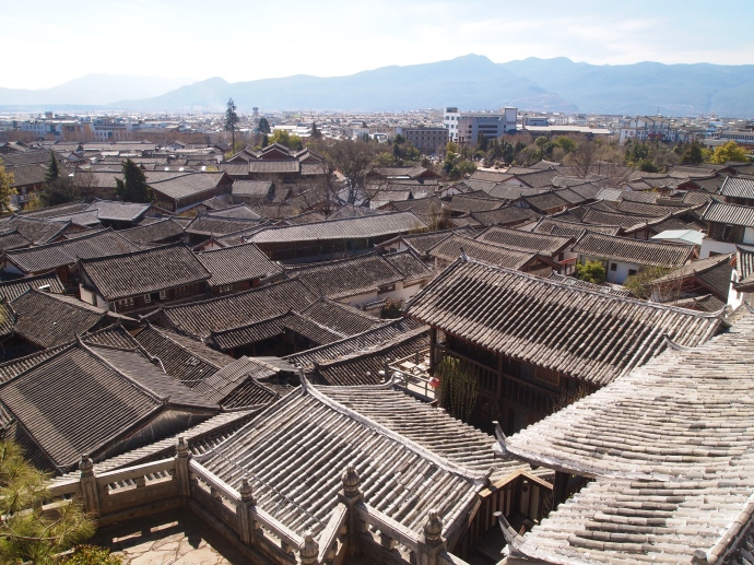 rooftops of Lijiang Ancient Town