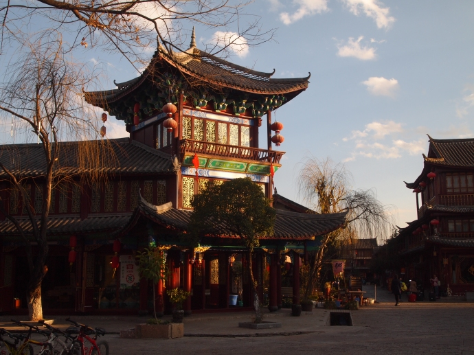 square near the south gate of Lijiang