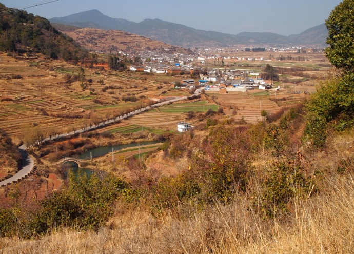 farmland around Shaxi
