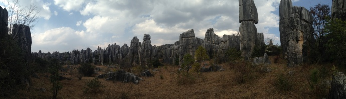 Panorama view of the Stone Forest
