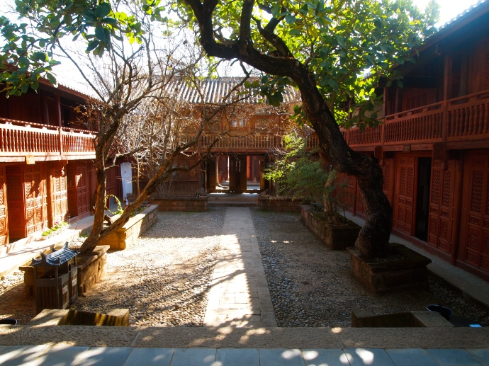courtyard at Xingjiao Temple