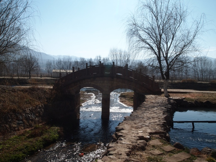 a little bridge on the outskirts of the town