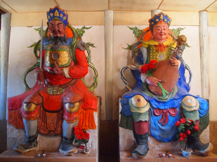 More fierce warriors at Haiyun Temple