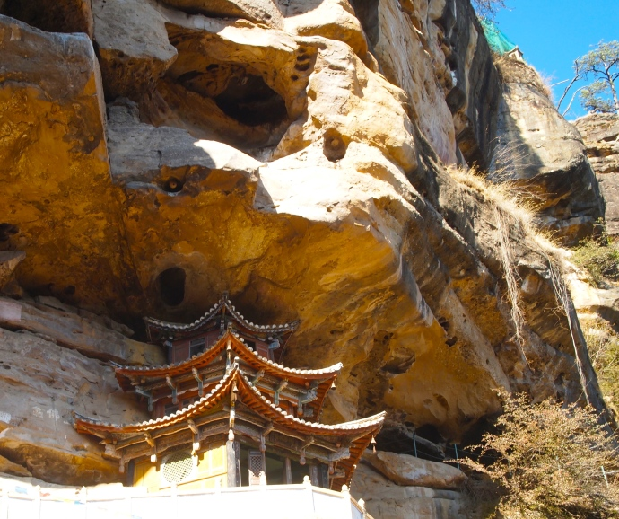 Cliffs at the temple