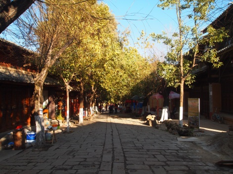 Back on the main street in Shaxi