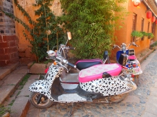 Dalmatian motorbike