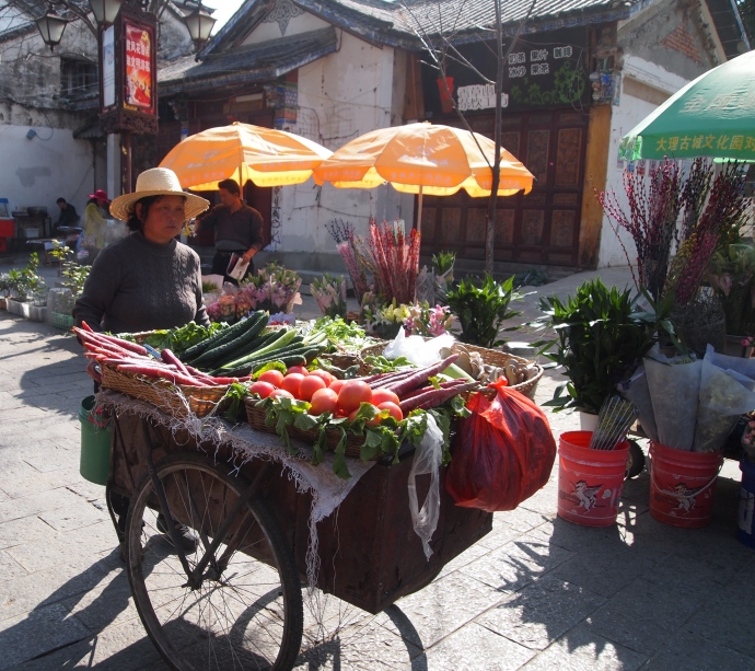 Vegetable cart in Dali
