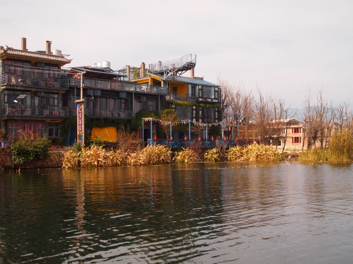 Hotels along Erhai Lake