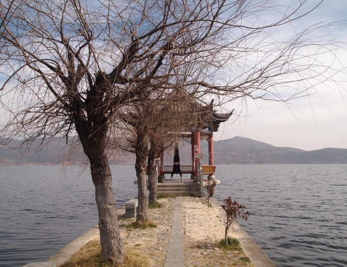 Pavilion on Erhai Lake