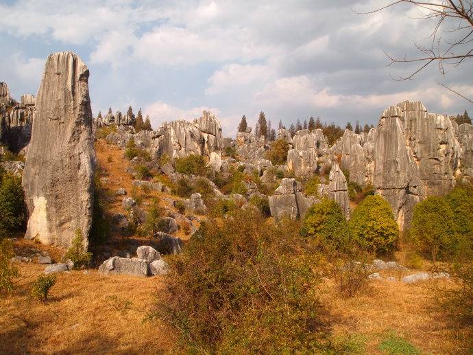 horizontal lines in the stone forest