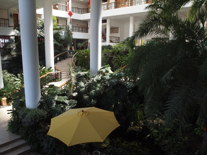 The atrium at Dianchi Garden Hotel & Spa