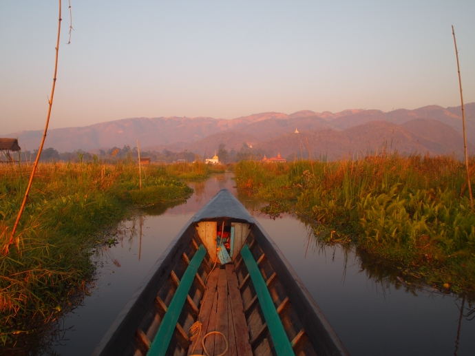 the floating gardens of Inle Lake, Myanmar
