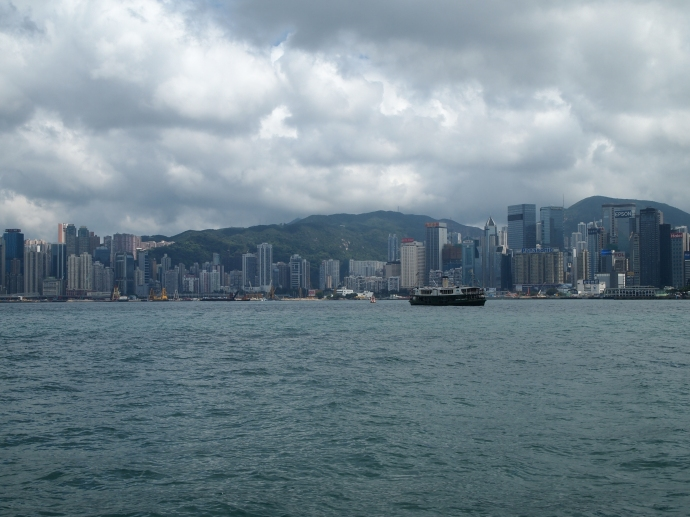 Victoria Harbor and the Hong Kong skyline