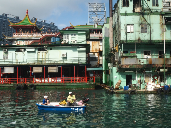 the rear side of the Jumbo Floating Restaurant