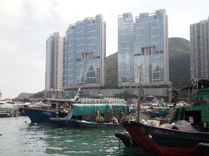 Boats and skyscrapers