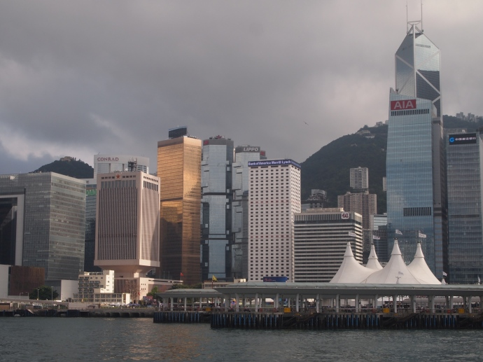 Looking back at Hong Kong Island from the Star Ferry