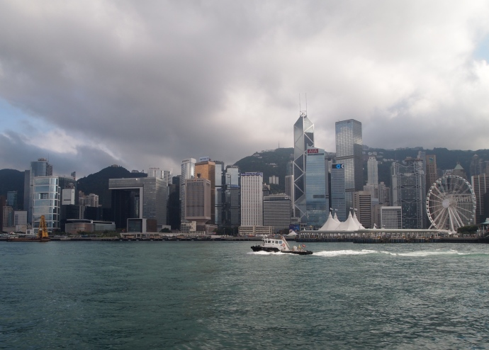 Hong Kong skyline with Victoria Peak behind