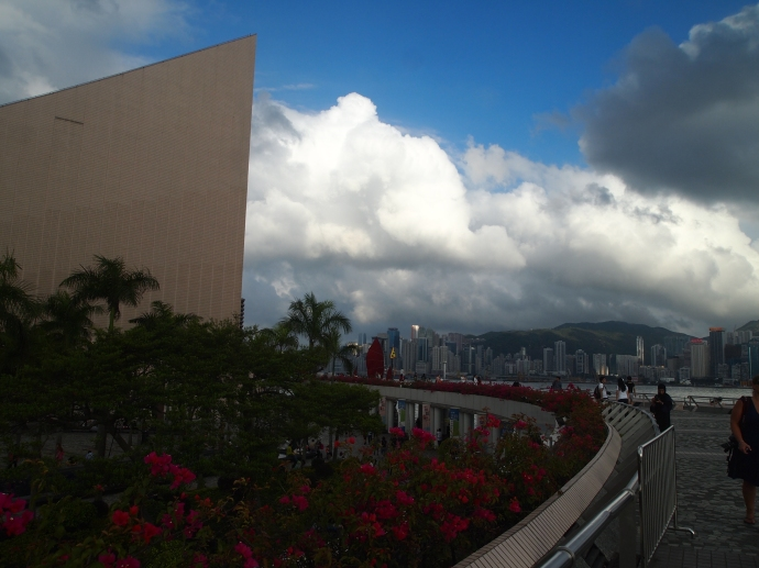 The promenade in Kowloon