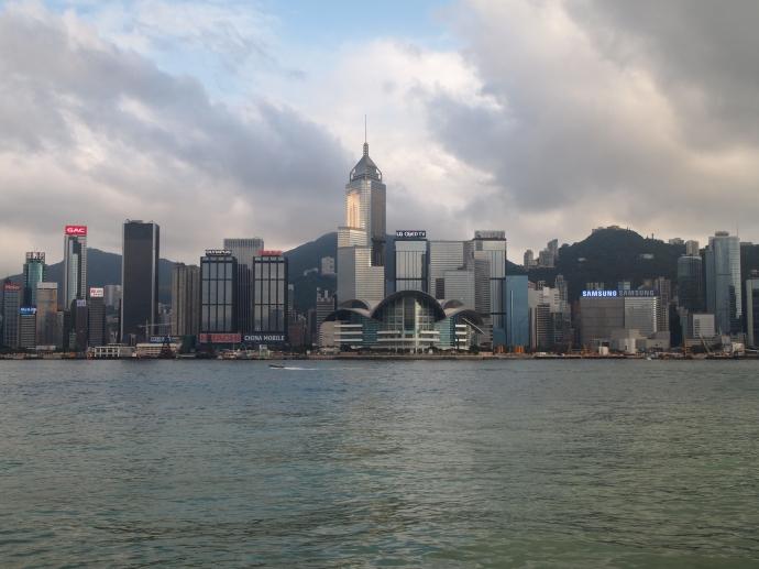 Light & clouds over Hong Kong's skyline