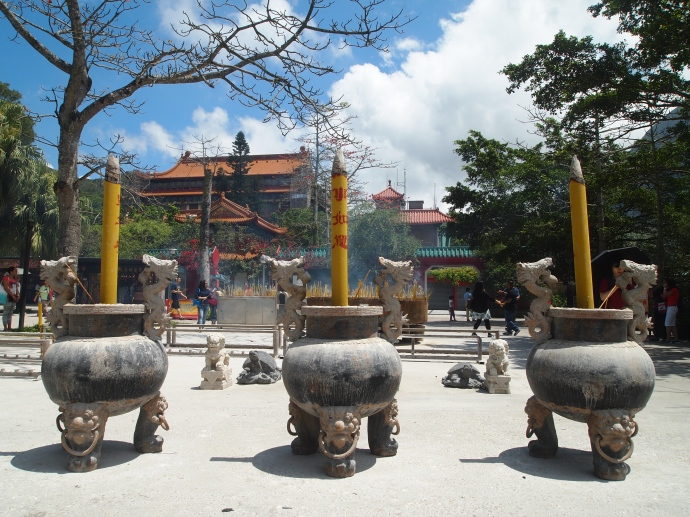 Incense burners at Po Lin Monastery