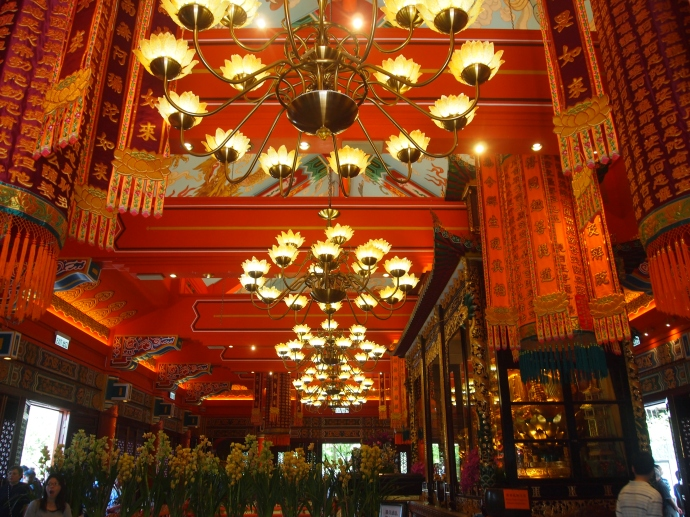Inside the Main Temple at Po Lin Monastery