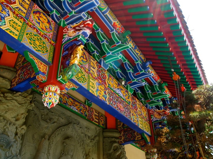Eaves of the Main Temple at Po Lin Monastery