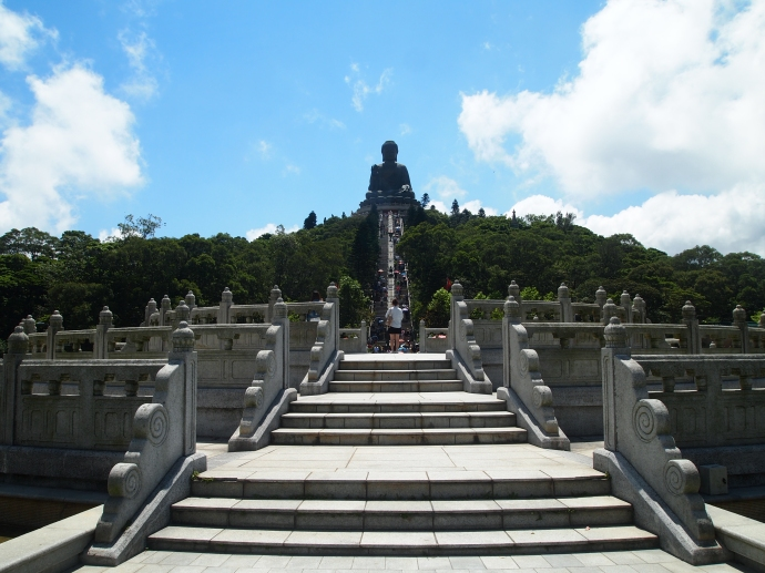 All steps lead to the Big Buddha