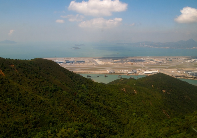 Hong Kong Airport from the Ngong Ping Cable Car
