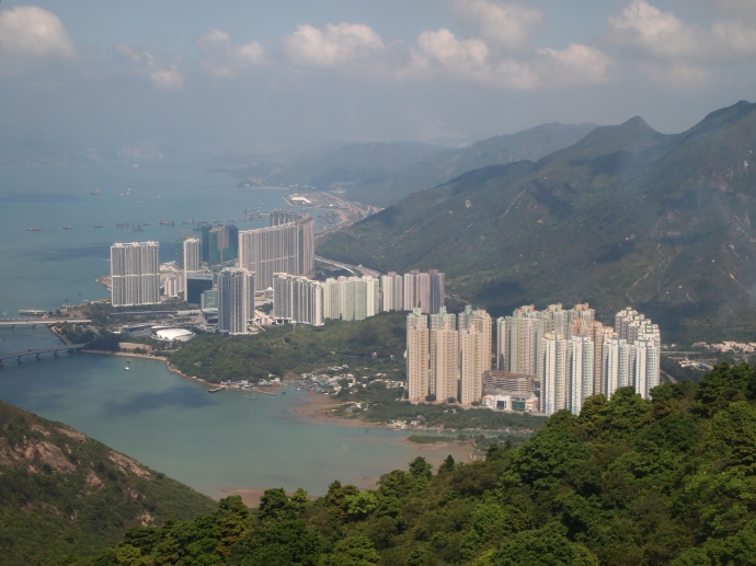 Coming into Tung Chung on the Ngong Ping Cable Car