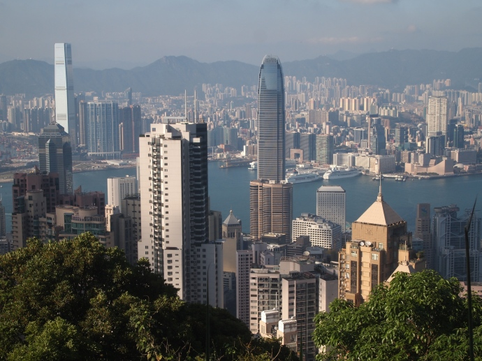 view of Hong Kong Central and the International Finance Center