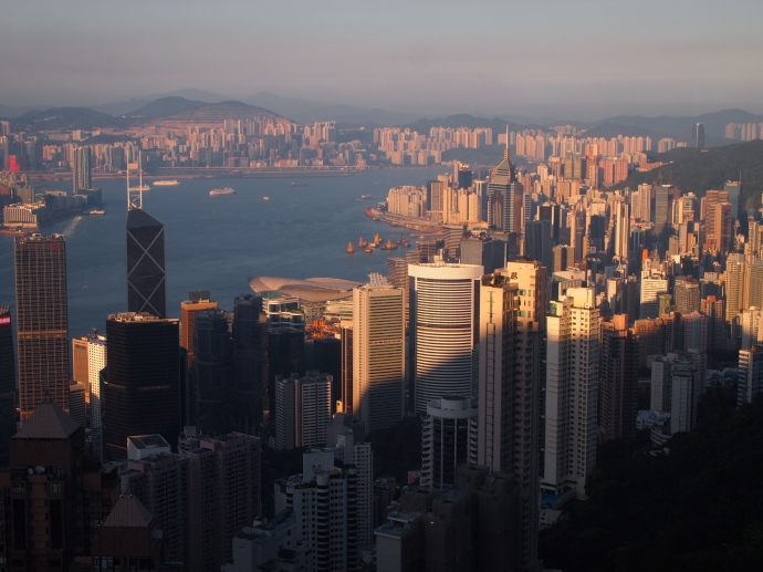 Hong Kong in the waning light