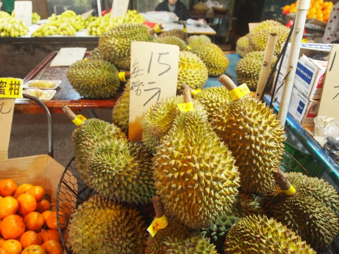 Durian at the night market