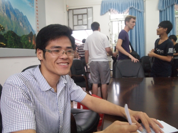 Daniel, a Chinese English teacher
