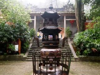 incense burner at temple
