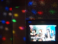 colorful lights & KTV screen