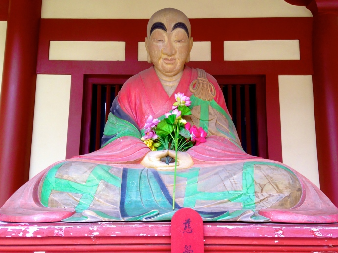 Peaceful pink Buddha