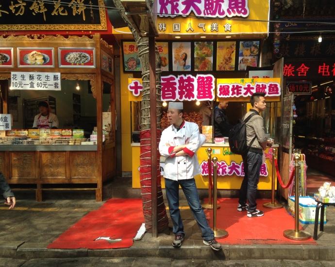 a Muslim food vendor