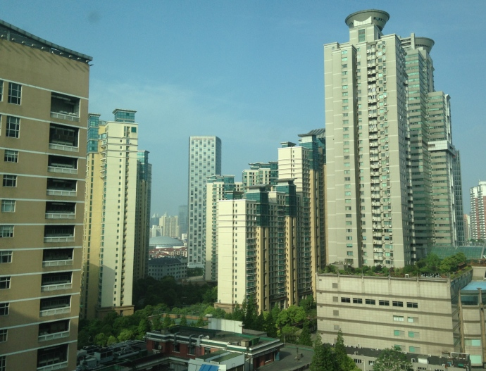 the view out my window ~ first sight of Shanghai