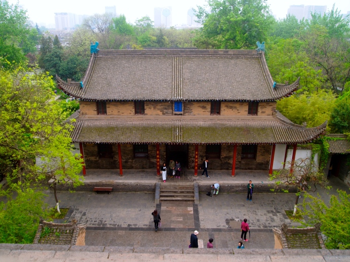 Looking down at Jianfu Temple from Small Wild Goose Pagoda