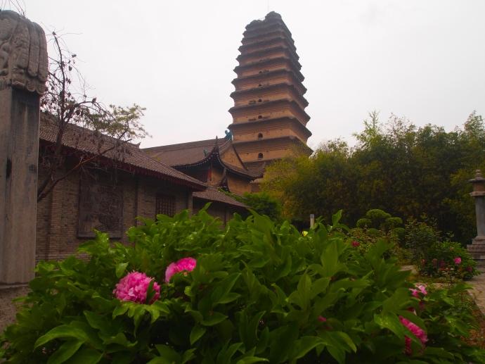 Small Wild Goose Pagoda as seen from Jianfu Temple