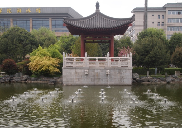 Pond and fountains