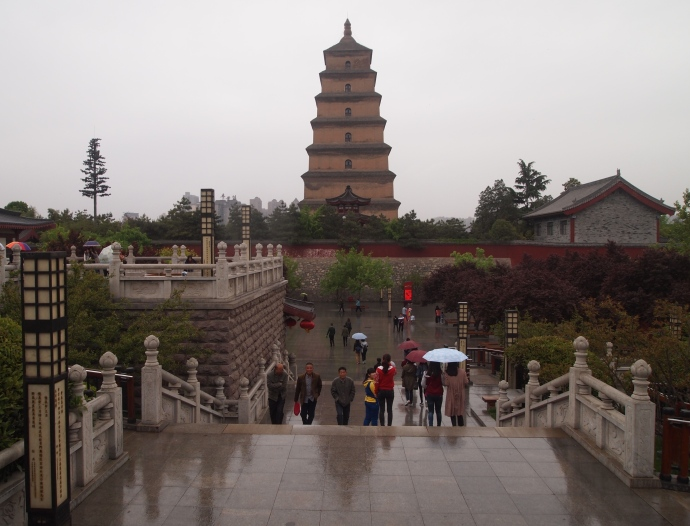First view of Big Wild Goose Pagoda