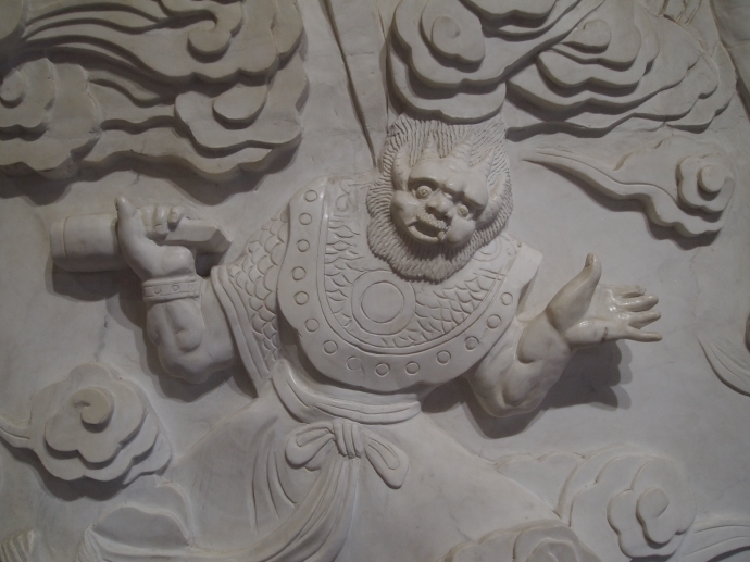 relief carving on the wall