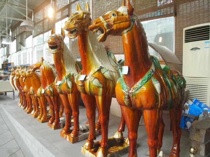 ceramic horses