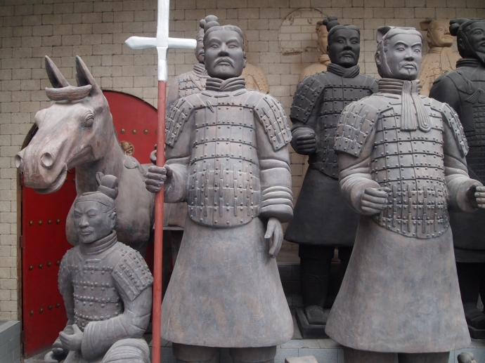life-size warriors