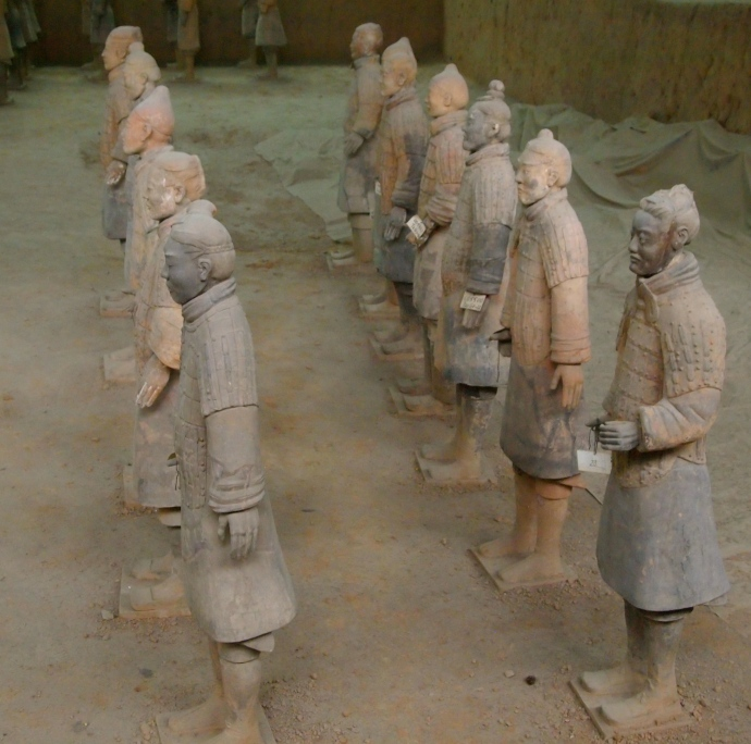 Terra Cotta Warriors at the back of Vault 1