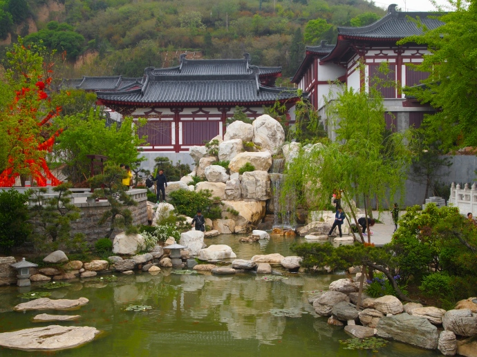 Pond at Huaqing Hot Spring