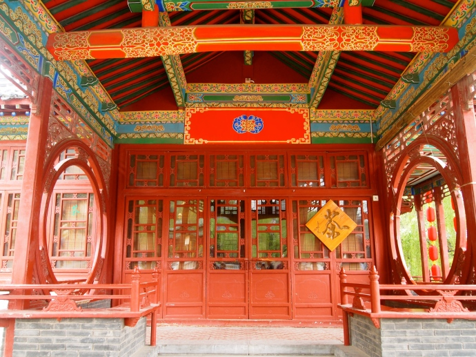 Pavilion at Huaqing Hot Spring